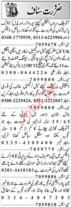 Daily Jang Call Center Staff Jobs 2019 In Lahore 2019 Job