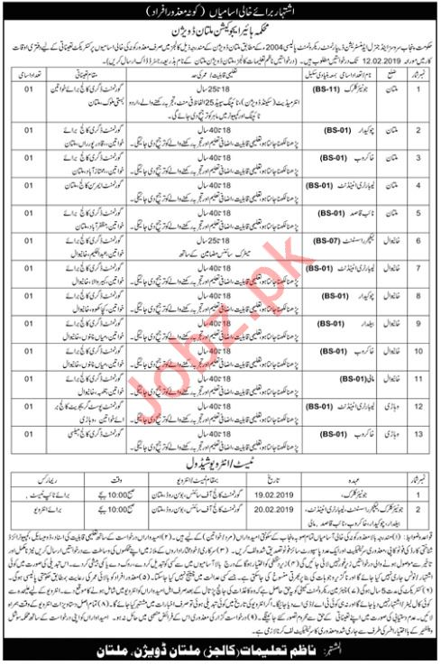 punjab higher education department junior clerk jobs 2019