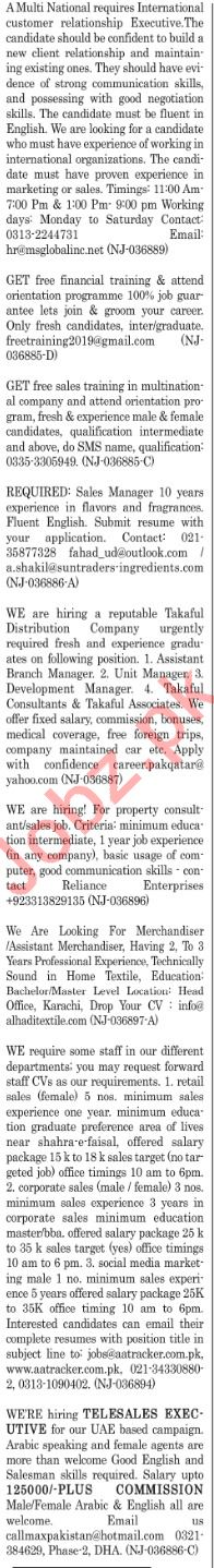 The News Sunday Classified Ads 27th 2019 for Sales Staff