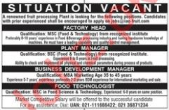 Factory Head Jobs in Private Company
