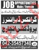 Graphic Designer & Production In Charge Jobs 2019