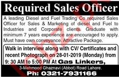 Sales Officer Jobs 2019 in Lahore