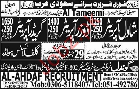 Al Tameemi Company Labors Jobs 2019 For Saudi Arabia
