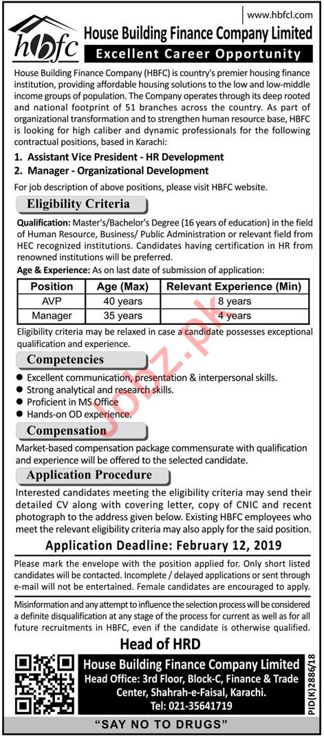 House Building Finance Company Limited Jobs in Karachi
