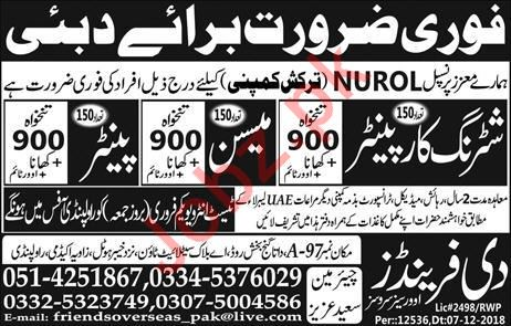 NUROL Turkish Company Construction Jobs 2019 In Dubai UAE
