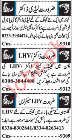 Medical Jobs 2019 For Clinic in Quetta Balochistan