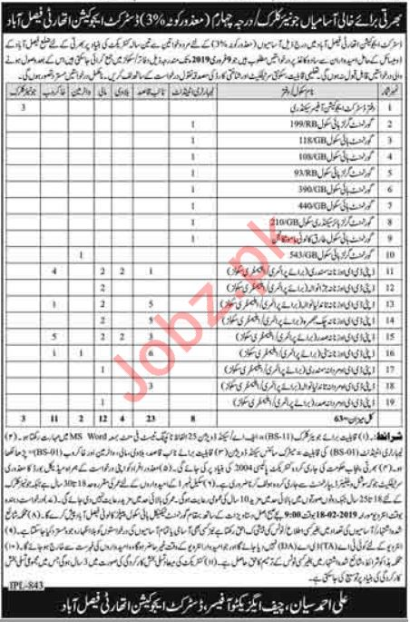 District Education Authority Jobs 2019 in Faisalabad