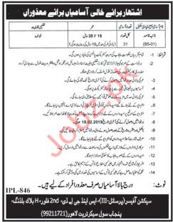 Naib Qasid Jobs in Services & General Administration