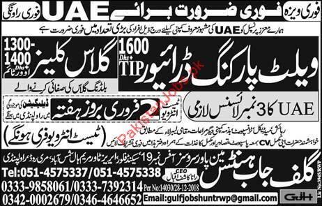 Wallet Prking Driver Jobs in UAE