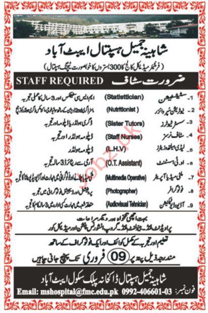 Nuttrition Supervisor Jobs in Shaheena Jamil Hospital
