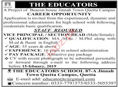The Educators Vice Principal Jobs 2019