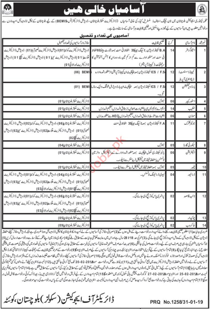 Stenographer Jobs in Secondary Education Department