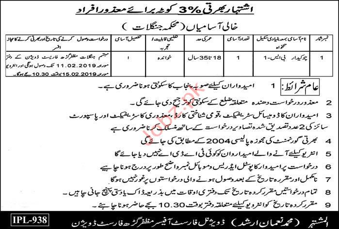 Chowkidar Jobs in Forest Division