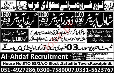 Construction Labors Jobs 2019 in Saudi Arabia