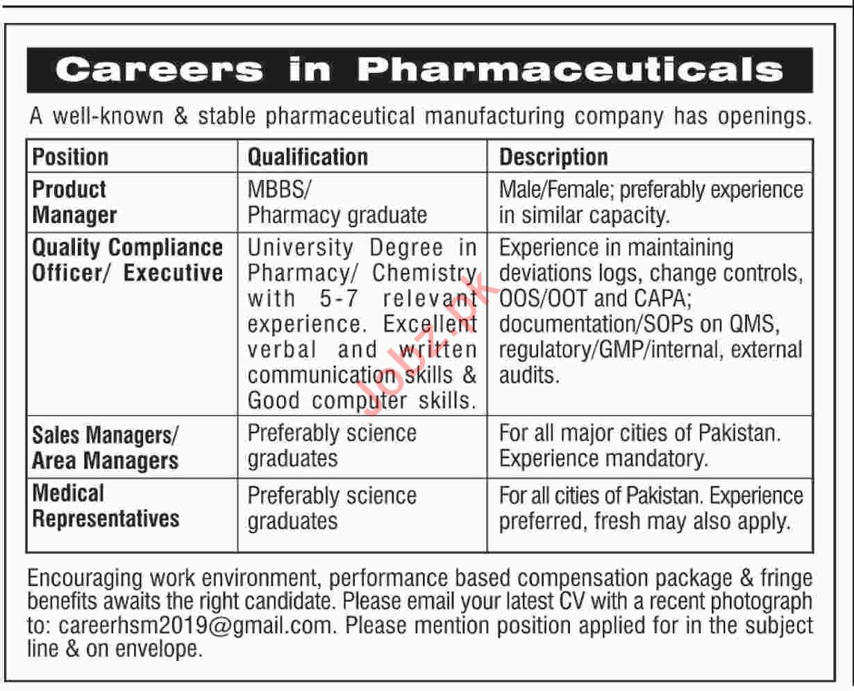 Product Manager Jobs at Pharmaceutical Manufacturing Company