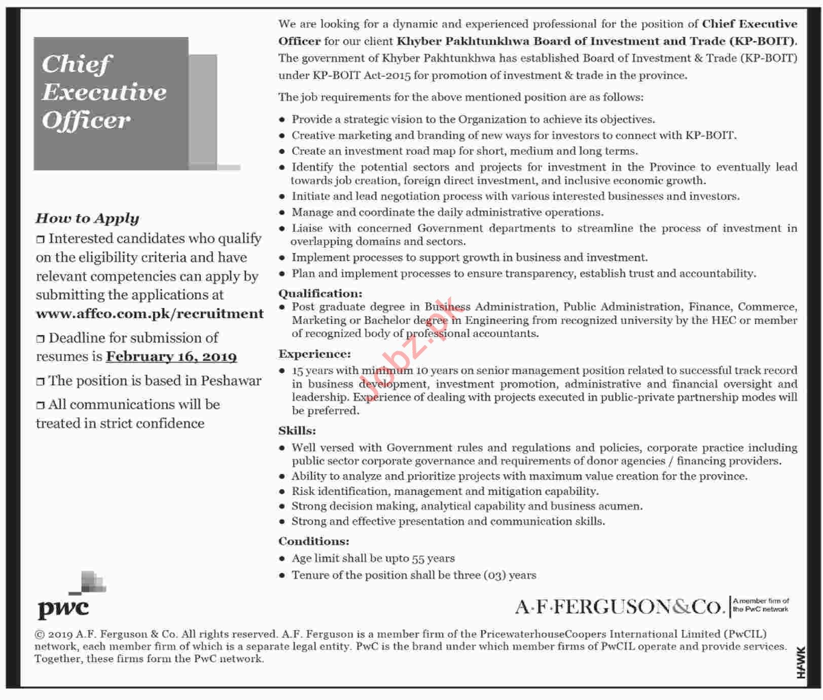 Chief Executive Officer Jobs at KPBOIT