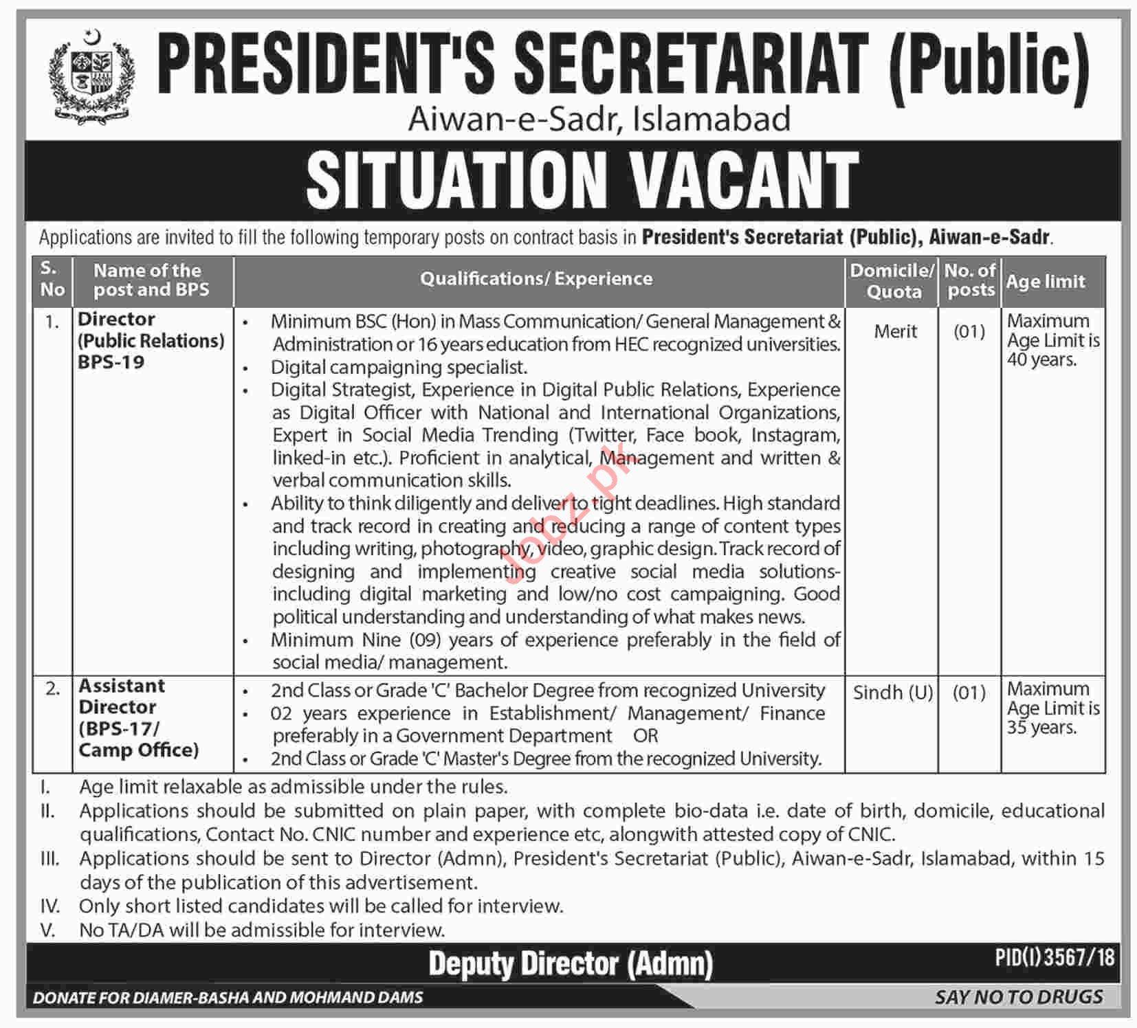 Director Jobs at President Secretariat Public Aiwan e Sadr