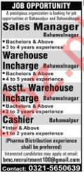 Sales Manager Job Opportunities
