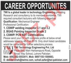 Mechanical Engineer Jobs at TWI Technology Engineering Ltd