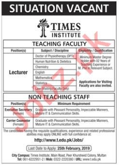 Physiotherapy Lecturer Jobs at  Times Institute