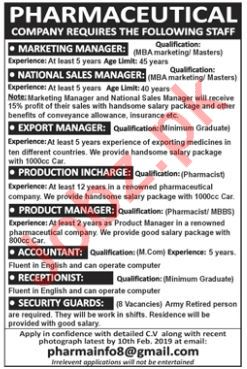 Marketing Manager Jobs at Pharmaceutical Company