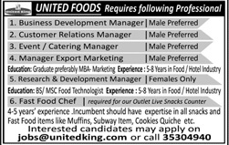 Business Development Manager Jobs in United Foods Company