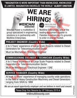 Multiline Enterprises Jobs 2019 in Rawalpindi