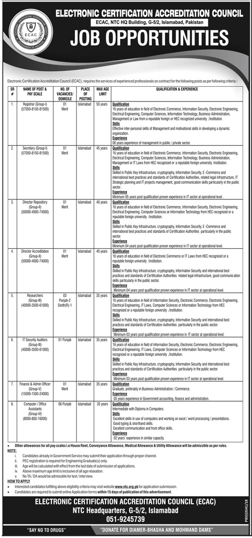Electronic Certification Accreditation Council Jobs 2019