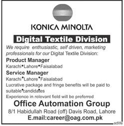 Konica Minolta Product Manager Jobs 2019