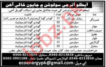 EcoEnergy Solutions Private Limited Jobs 2019