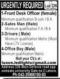 Front Desk Officer Jobs in Private Company