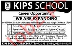 KIPS School Lahore Jobs 2019 for Teachers & Admin Staff