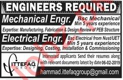 Ittefaq Group Lahore Jobs 2019 for Mechanical Engineer