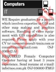 The News Sunday Classified Ads 2nd Feb 2019 for IT Staff