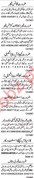 Nawaiwaqt Sunday Classified Ads 2nd Feb 2019 Office Staff