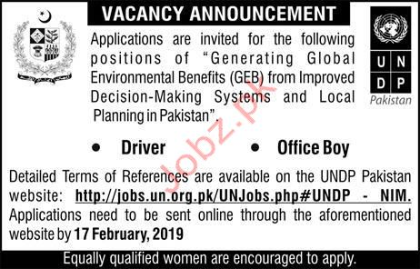 Driver Jobs in United Nation Development Program UNDP