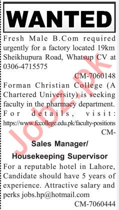 Assistant Accountant Sales Manager & Supervisor Jobs 2019