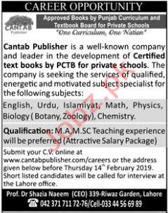 Cantab Publisher Teaching Jobs 2019