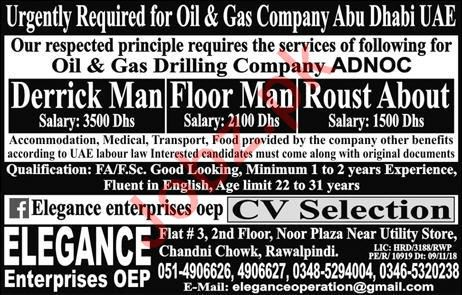 Oil & Gas Drilling Company ADNOC Jobs 2019 in Abu Dhabi UAE