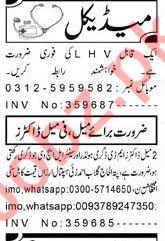 Daily Aaj Newspaper Classified Medical Jobs For Peshawar