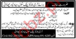 Army Junior Public School Bahawalpur Jobs 2019