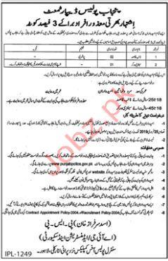 Naib Qasid & Sanitary Worker Jobs in Punjab Police