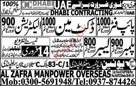 Pipe Fitter Jobs in UAE