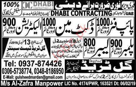 Pipe Fitter Labor Jobs in Dubai