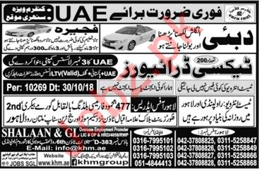 Taxi Driver Jobs Career Opportunity in UAE