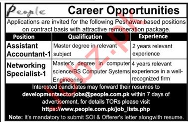 People TM Peshawar Jobs 2019 for Asst Accountant