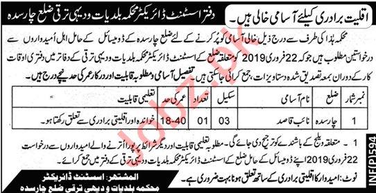 Local Government & Rural Development Department KPK Jobs