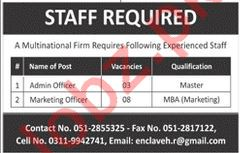 Admin Officer & Marketing Officer Job 2019 in Rawalpindi