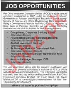 Group Head Corporate Banking Jobs at PCICL
