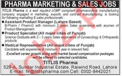 Titlis Pharma Pvt Ltd Assistant Product Manager Jobs